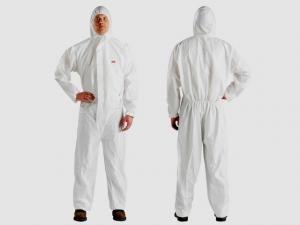 Комбинезон ламинированный белый 4510 спецодежда, костюм белый малярный, спецовка для покраски, одежда при уборке, защита от аэрозолей.