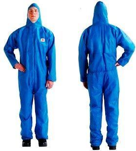 Комбинезон защитный синий 3М 4515, костюм защитный, комбез защитный, комбенезон, одежда от воды, спецовка маляра,