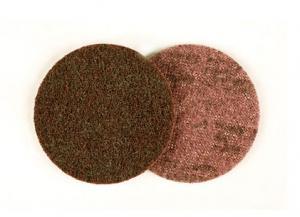 Диск из нетканого абразивного полотна 65334, SC-DH круг A CRS без отверстий D 125мм, самозацепляемый диск, скотч брайт, Р80-120, scotch-brite