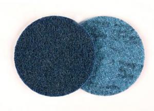 Диск из нетканого абразивного полотна 65339, SC-DH круг A VFN без отверстий D 125мм, самозацепляемый диск, скотч брайт, Р280-320, scotch-brite